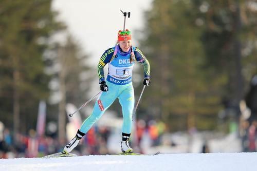 Украинка выиграла «бронзу» намеждународном турнире побиатлону